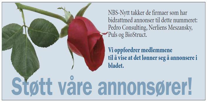 Støtt våre annonsører - NBS annonse