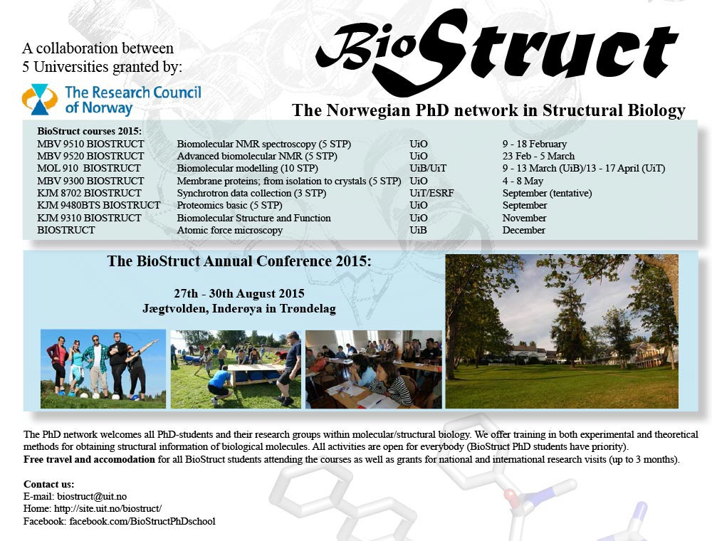 BioStruct – The Norwegian PhD network in Structural Biology