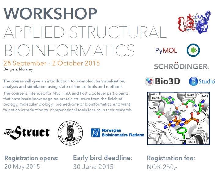Workshop Applied Strutural Bioinformatics - Norsk Biokjemisk Selskap